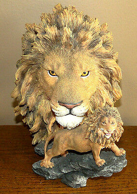 Lion Head Mountains Figurine Statue Westland Giftware 2000 #5668