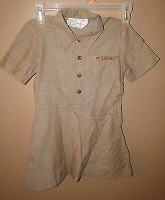 Vintage Girl Scout USA Brownie Dress Uniform Official
