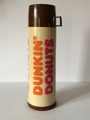 Dunkin Donuts Hot Cold Insulated Coffee Tea Soup Thermos Tall Screw Cap and Cup