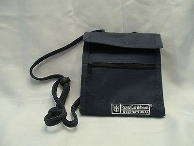 Royal Caribbean Cruise Line Lanyard with Wallet Pouch Bag Small Purse Navy Blue