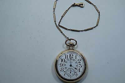 1920 Elgin Father Time 16S 21 Jewels Rr Grade Pocket Watch  A635