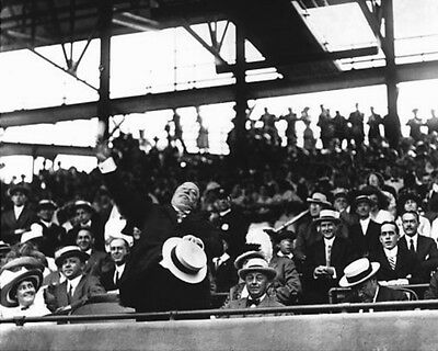 27th US President WILLIAM H TAFT Glossy 8x10 Photo 1910 First Pitch Print Poster