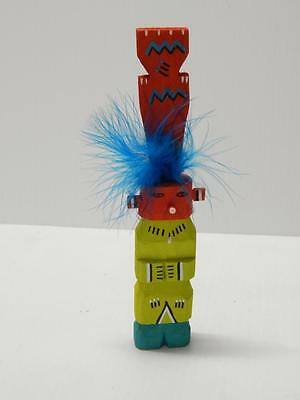 VINTAGE HOPI PUEBLO INDIAN HIGHWAY ROUTE 66 KACHINA with TALL TABLETA - YEI STYL