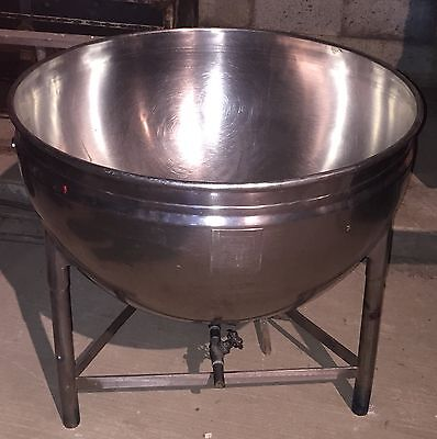 Groen Mfg Co 40 Gallon Stationary Kettle With Valve. Commercial Grade Stainless