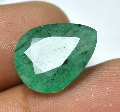 "Charming 8.80 Cts Natural Pear Shape ""GGL Certified"" Emerald Gemstone AAA+"