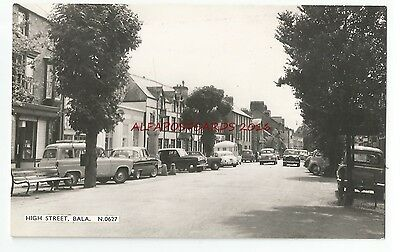 Wales Merionethshire Bala High Street Real Photo Vintage Postcard 24.12