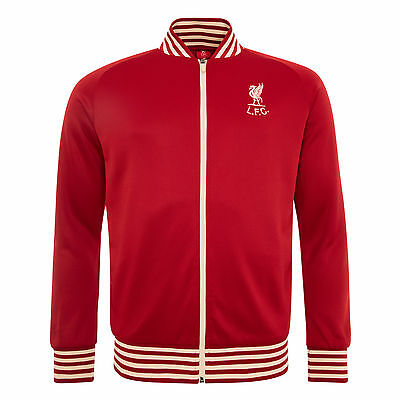 Liverpool FC Polyester Red Retro Shakly Mens Football Jacket LFC Official Store