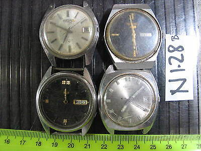 4pc Vintage SEIKO Automatic Gents  7S26 7005 6309  Parts Watch AsIs