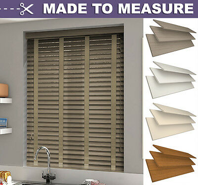 FAUX WOOD VENETIAN BLIND with tapes MADE TO MEASURE  -  50mm SLATS - CUSTOM MADE