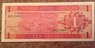 Netherlands Antilles Banknote. 1 Gulden. Dated 1970. Unc