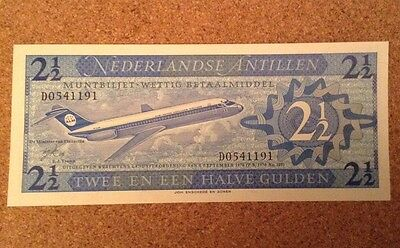 Netherlands Antilles Banknote. 2 1/2 Gulden. Dated 1970