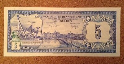 Netherlands Antilles Banknote. 5 Gulden. Dated 1984.