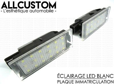 Renault Clio 3 Iii 05-2012 Leds Smd Eclairage Blanc Xenon Plaque Immatriculation