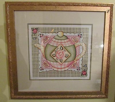 Mary Engelbreit Framed Teapot Print Signed Limited Edition 1700/2000