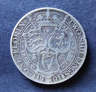 1901 VICTORIA TWO SHILLINGS, sterling silver collectable coin.           SC0031