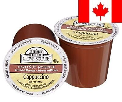Grove Square Cappuccino Mix, Hazelnut, 24 Single Serve Cups