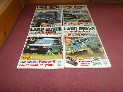 COLLECTORS ITEMS - OLD LAND ROVER MAGAZINES - LAND ROVER ENTHUSIAST x 4