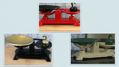 1:12 scale dolls house miniature kitchen scales 3 to choose from.