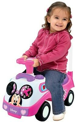 Minnie Mouse Pink First Ride On Car for Toddlers Kids Girls Disney