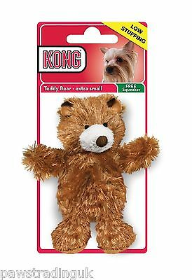 Kong Plush Teddy Bear–Cute Unstuffed Squeaky Dog Toy + Squeaker For Body Too!!!