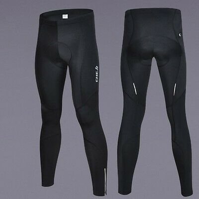 New Black Good Quality Men's Bike Bicycle Cycling Long Padded Pants Size S-3XL