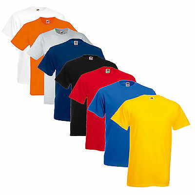 5 Pack Of Mens Fruit Of The Loom T Shirts Cotton Free Postage