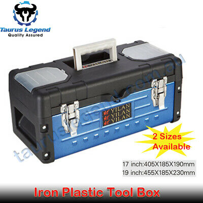 17 | 19 inch Portable Toolbox Iron Plastic Durable PVC Tool Box Parts Storage