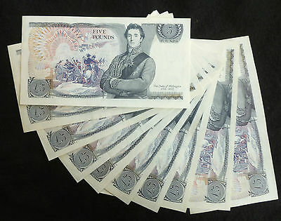 Somerset Wellington Blue Five Pound £5 Banknote ( Issued 1980-1988 ) EF+