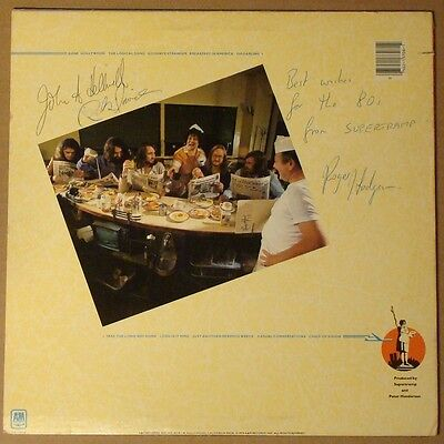SUPERTRAMP Breakfast In America LP SIGNED Hodgson Davies Hellison Autographed