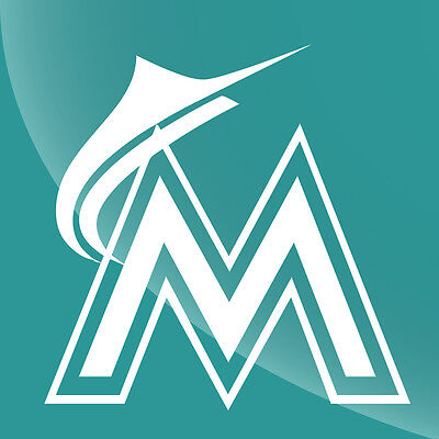 Miami Marlins Single Color Decal Sticker - TONS OF OPTIONS