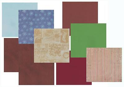 """9 Sheets Mixed Scrapbook Papers/Card 12x12"""" - CHRISTMAS"""