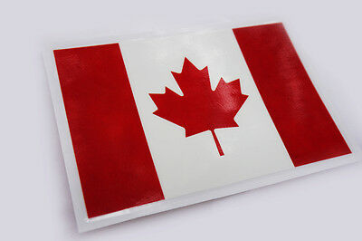 Canada Canadian Country Flag Car Bike Motorcycle Wall Poster Sign Sticker Decal
