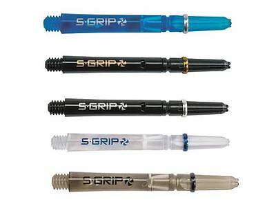 5 Sets Of Harrows Supergrip Spin Dart Stems/Shafts - 5 Colours  - 2 Sizes