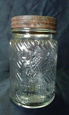 Vintage 1 LB. Jumbo Peanut Butter Jar with Original Lid Cincinnati Ohio Original