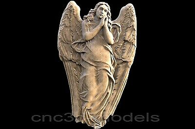 3D STL Models for CNC Router Carving Artcam Aspire Religion Cherub Angel 274