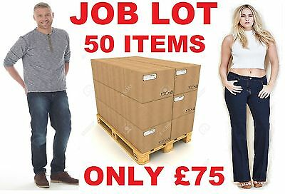 JOB LOT x 50 MIXED ITEMS NEW EX CATALOGUE CLOTHES SKIRT TOPS TROUSER DRESS JEANS