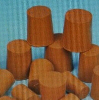 13mm 10pk- Red Rubber Stopper Bungs Laboratory