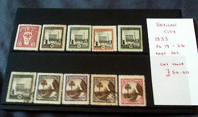 1933 Mint & Used Vatican City Stamps, Stated To Catalogue £50.