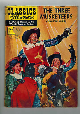 CLASSICS ILLUSTRATED COMIC No. 1 The Three Musketeers  HRN 134