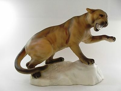 Large Beswick Puma On Rock Ref 7/3