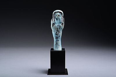 Ancient Egyptian Third Intermediate Period Faience Shabti for Ta-Shed-Amun - 106