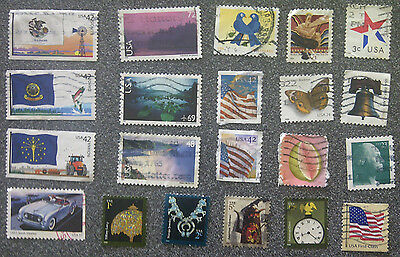 Lot Of 21 Pieces Used United States Stamps