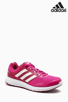 Adidas Duramo 7 Womens White Pink Cushioned Running Sports Shoes Trainers
