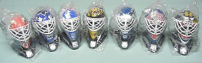 SET OF 7 McDONALDS MINI NHL 1996 - 1997 GOALIE MASKS UNOPENED