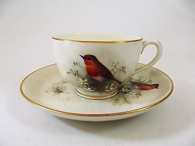 Antique Royal Worcester Cup & Saucer Signed By  W Powell Dated 1923 Ref 475/1