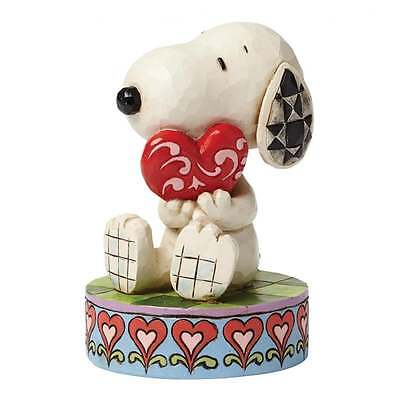 Jim Shore Peanuts I Love You Snoopy With Heart Figurine New Boxed 4049396