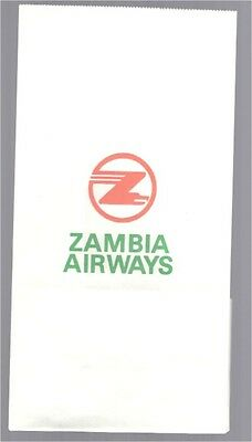 Zambia Airways Vintage Sick Bag - Barf Bag Air Sickness Africa