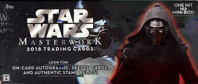 2016 Topps Star Wars Masterwork Hobby 8 Box Case Blowout Cards