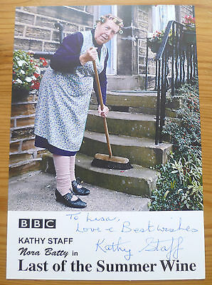 Last of the Summer Wine SIGNED Photo - Kathy Staff HANDSIGNED - Nora Batty RARE