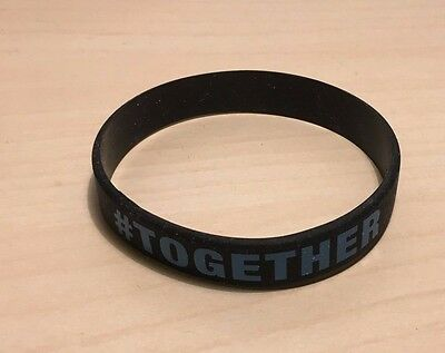 NEW Official Man City #Together Wristband Black Blue Silicone One Size Fits All
